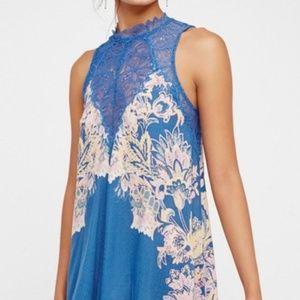 Free People Floral Mini Dress Lace